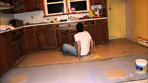 Kitchen Flooring Installation Time Lapse Kitchen Vct Tile Floor Laying Installation Youtube