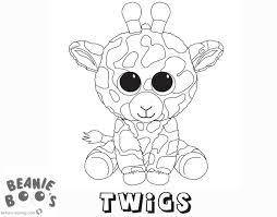 Kleurplaat Glitteroogjes Beanie Boo Coloring Pages Twigs Free