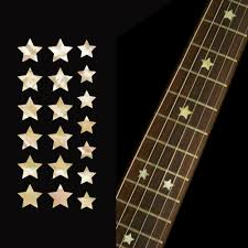 Fret Inlay Designs Star Fret Markers Fretboard Inlay Stickers Decals Guitar