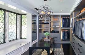 Modern Luxury Master Closet Design Ideas With Black Table And Unique