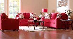 red couch living room design ideas