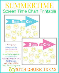 Bathroom Chart For Kids Childrens Screen Time Chart Our Thrifty Ideas