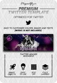 Concert Invite Template Concert Invitation Twitter Channel Banner Psd Template