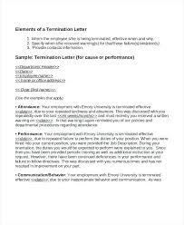 Letter Warning 7 Employment Termination Samples To Write A Due ...