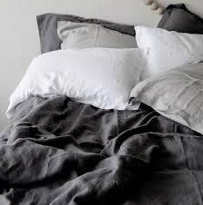 linen duvet cover set slate