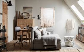 Bedroominspiring ikea office chair Decor Spare Room With Sloped Ceiling Is Furnished With Neutral Coloured Furniture Including Ikea Guest Room Office Relaxation Zone Yes Yes And Yes