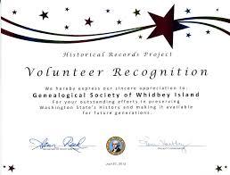 Volunteer Certificate Template Volunteer Recognition Certificate
