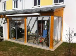 Terrassenüberdachung Holz Schiebetüren Fix Fertig Montiert In