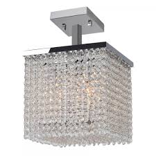 prism collection 4 light chrome finish and clear crystal semi flush ceiling light 10