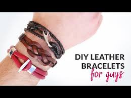 diy 3 styles of leather bracelets for guys gift idea curly made