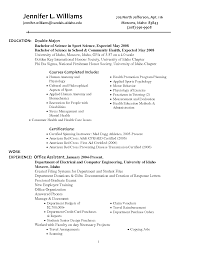 Old Fashioned Resume Education Double Major Composition Resume