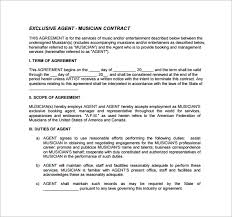 music management contract booking agent contract template 9 download free documents in pdf