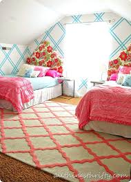 all things thrifty rug walls and twin beds styling teen girl rugs furniture s nyc affordable kids and teens rugs