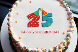 25th Birthday Cake With Name Editor 2happybirthday