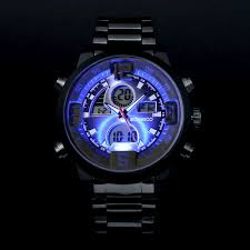 men military sports watches dual time quartz analog digital watch men military sports watches dual time quartz analog digital watch colourful led light full steel watches best gift watches for men at low price