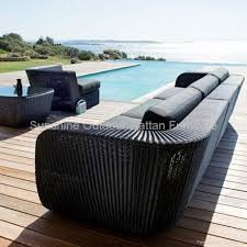 Wicker lounge funiture - garden sectional rattan sofa