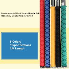 Us 3 69 30 Off 20mm Heat Shrink Tube Nonslip Fishing Rod Handle Grip 1m Sweat Absorptive Insulation Tubing Sleeve For Fishing Rod 5 Colors In
