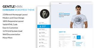 Wordpress Resume Theme Amazing GentleMan VCard CV Resume WordPress Theme By Codexcoder Gentle