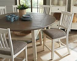 Furniture Kitchen Table Antique Ashley Furniture Homestore Large Bolanburg Counter Height Dining Room Table Rollover Tables
