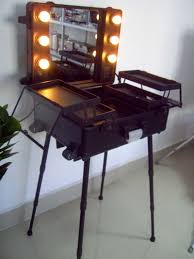 Beauty Station With Lights Hot Item Professional Cosmetic Trolley Case With Lamp