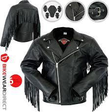 texd mens leather brando tassel jacket