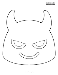 Words are sometimes better expressed by a little feeling icon. Google Devil Emoji Coloring Page Super Fun Coloring