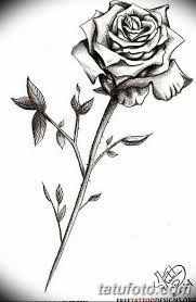 черно белый эскиз тату с черной роedw 11032019 090 Tattoo
