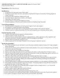 Career Advisor Resume Example Camp Counselor Resume Sample Resume Employment Counselor Luxury 39