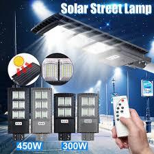 600W LED <b>Solar Street Light</b> PIR Motion <b>Sensor</b> Outdoor Garden ...