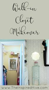a master bedroom closet gets an easy update with girly details and a few diy ideas
