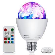 Rotating Led Disco Light Bulb Us 9 89 34 Off Disco Light Bulb Led Party Bulb 3w E27 Rotating Stage Strobe Dj Dance With Remote Control For Bar Karaoke Club In Led Bulbs Tubes
