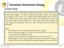 Saldo investasi rp 14.150.000 3 soal 1 juni membeli 10.000 lembar obligasi pt abc 7% dengan nominal rp 2.000 berjangka. 17 Contoh Soal Akm 2 Obligasi Kumpulan Contoh Soal