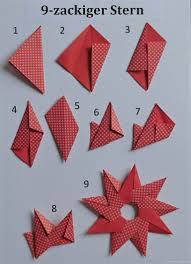 Sonne Oder 9 Zackiger Stern Papierzen Avec Origami Sterne