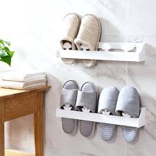wall hanging shoe rack plank wall mounted shoe rack wall three dimensional slippers shelf bathroom shoes