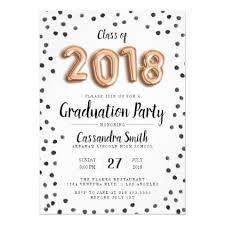 Class Party Invitation Modern Class Of 2018 Balloons Grad Invite Graduation Party