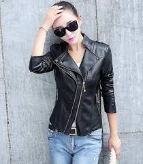 fashion design women leather jacket coat