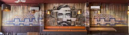 mexican restaurant interior wall art