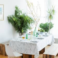 aqua teal white rectangular linen tablecloth modern print pure linen custom sizes extra wide huddleson linens