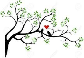 love birds in tree clipart. Fine Tree Clipart Birds Tree Silhouette  ClipartFox With Love Birds In Tree B