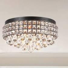 small flush mount chandelier