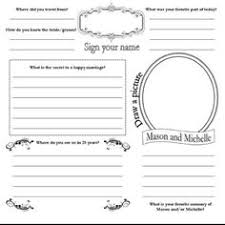 wedding guest book pages diy guest book pages
