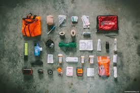 bikeng first aid kit and safety gear