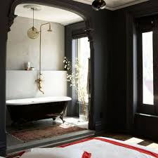 Bathroom: Black Tub And White Decor - Black Bathroom