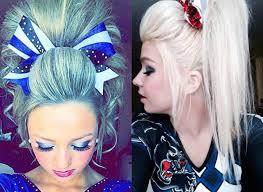 cheerleaders hairstyles