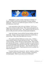 halloween running dictation story and quiz worksheet esl halloween running dictation story and quiz full screen