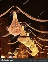 Weihnachten Kronleuchter In Wien österreich Stockfoto