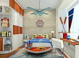 british children s bedroom with ceiling fan
