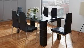 dunelm extending varazze table black chair round room rovigo argos chrome glass oval small sets chairs