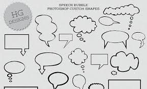Photoshop Speech Bubble Freebie Speech Bubbles Shapes Hg Designs