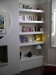 Built In Drywall Shelves Floating Shelves On Hidden Fixings Chubby Shelves For Either Side